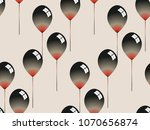 glassy ink balloons on an ivory ... | Shutterstock .eps vector #1070656874