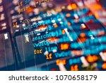 software code development as... | Shutterstock . vector #1070658179
