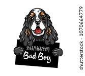 cocker spaniel criminal. dog... | Shutterstock .eps vector #1070664779
