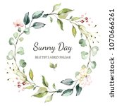 card. watercolor invitation... | Shutterstock . vector #1070666261