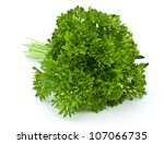 fresh parsley on white... | Shutterstock . vector #107066735