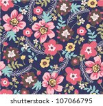 Stock vector seamless summer floral pattern background 107066795