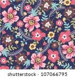 seamless summer floral pattern... | Shutterstock .eps vector #107066795