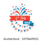 4th of july  american... | Shutterstock .eps vector #1070669021