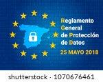 rgpd   spanish text  reglamento ... | Shutterstock .eps vector #1070676461