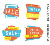 sale banner collection ... | Shutterstock .eps vector #1070677991