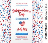 independence day celebration.... | Shutterstock .eps vector #1070678111