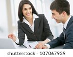 young business collegues... | Shutterstock . vector #107067929