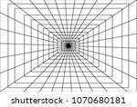 black rectangle lines net mesh  ... | Shutterstock .eps vector #1070680181