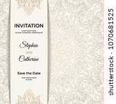 save the date invitation card... | Shutterstock .eps vector #1070681525