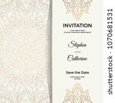 save the date invitation card... | Shutterstock .eps vector #1070681531