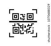 qr code   line design single... | Shutterstock .eps vector #1070688329