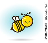 cute little bee isolated on...   Shutterstock .eps vector #1070688761