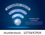 wi fi icon abstract design... | Shutterstock .eps vector #1070692904