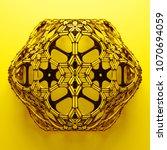 3d render abstract  geometrical ... | Shutterstock . vector #1070694059