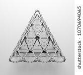 3d render abstract  geometrical ... | Shutterstock . vector #1070694065