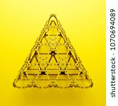 3d render abstract  geometrical ... | Shutterstock . vector #1070694089