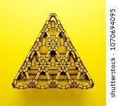 3d render abstract  geometrical ... | Shutterstock . vector #1070694095