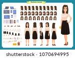 pretty female office employee...   Shutterstock .eps vector #1070694995