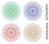 set of vector guilloche... | Shutterstock .eps vector #107069894