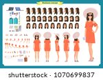 tourist female  vacation... | Shutterstock .eps vector #1070699837