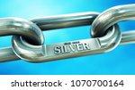 chain of fine silver. finance... | Shutterstock . vector #1070700164