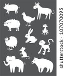 Abstract Animals Set