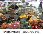 fresh vegetables in a market | Shutterstock . vector #1070702141