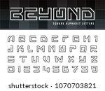 vector of square alphabet... | Shutterstock .eps vector #1070703821