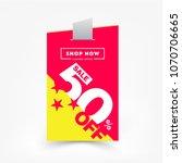 50  off sale discount banner.... | Shutterstock .eps vector #1070706665