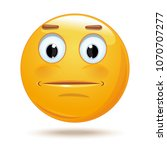 indifferent cartoon icon.... | Shutterstock .eps vector #1070707277