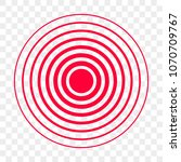 pain red circle point vector... | Shutterstock .eps vector #1070709767