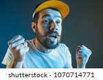 sports  fan human emotions and... | Shutterstock . vector #1070714771