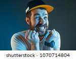 sports  fan human emotions and... | Shutterstock . vector #1070714804