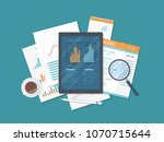 mobile auditing  data analysis  ... | Shutterstock . vector #1070715644