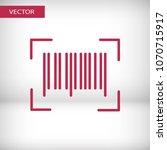barcode icon vector...