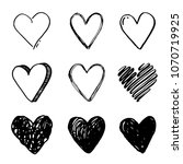 hand drawn set of different... | Shutterstock .eps vector #1070719925