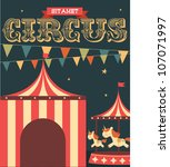 Vintage Circus Poster Template...