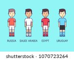 world cup 2018  group a. russia ... | Shutterstock .eps vector #1070723264