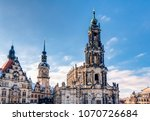 the dresden castle and the... | Shutterstock . vector #1070726684