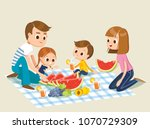 family picnic isolated | Shutterstock .eps vector #1070729309