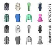 women clothing cartoon...   Shutterstock .eps vector #1070736041