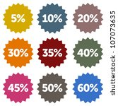 discount stars set   colorful... | Shutterstock .eps vector #107073635