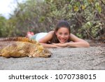 tourist people enjoying... | Shutterstock . vector #1070738015