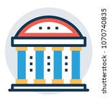 ancient library design with a... | Shutterstock .eps vector #1070740835