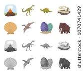 prehistoric shell  dinosaur... | Shutterstock .eps vector #1070741429
