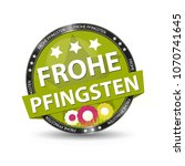 german web button frohe... | Shutterstock .eps vector #1070741645