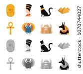 anubis  ankh  cairo citadel ... | Shutterstock .eps vector #1070744027