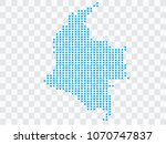 abstract blue map colombia of... | Shutterstock .eps vector #1070747837