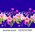 tropical seamless border with... | Shutterstock .eps vector #1070747984